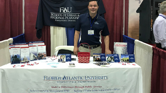 Carlos Manzano at the Florida Governor's Hurricane Conference in West Palm Beach